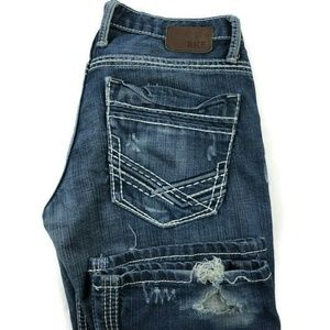 BKE Buckle Aiden Straight Distressed Jeans